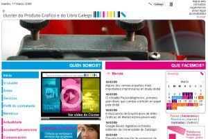 Cluster do produto gráfico e do libro galego